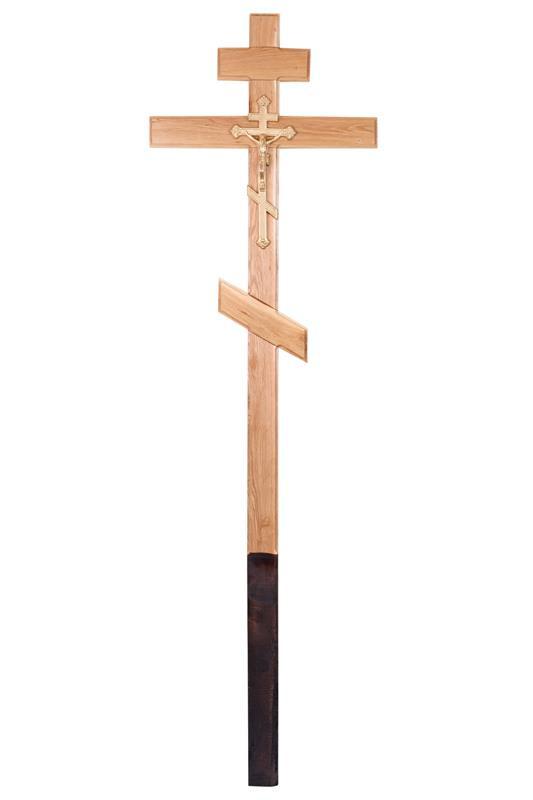 Крест «Лакированный дубовый»